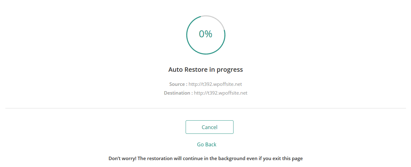 Auto Restore continues in the background so you can go about your day
