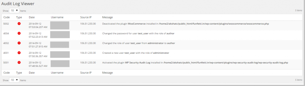 WordPress Hacked - Audit Log