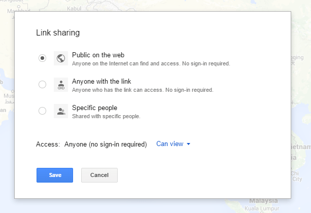 how to include a google map on my website