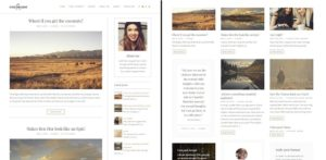 Colorado different blog layouts
