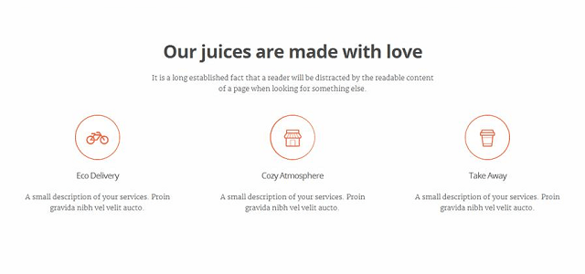Juice&Co blog layout without photo