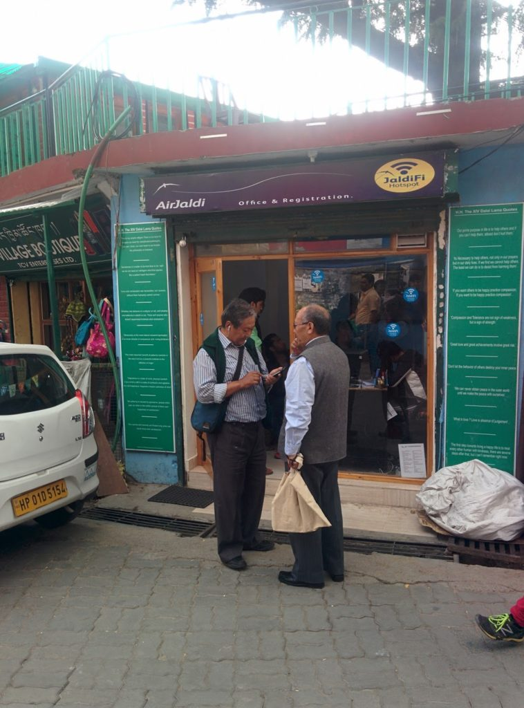 AirJaldi Office on Temple Road- One of the keys to making our trip a success.