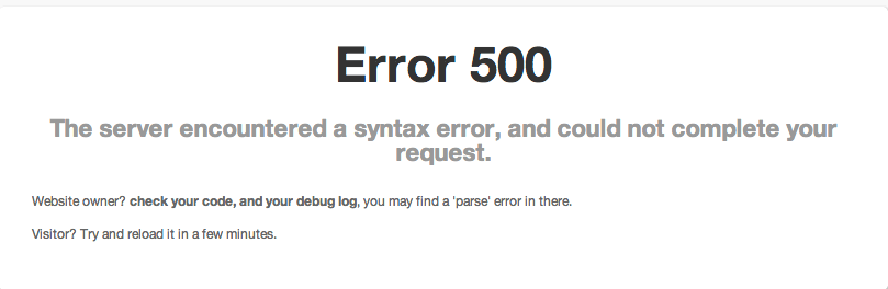 Error 500 is what displays when your server is overloaded