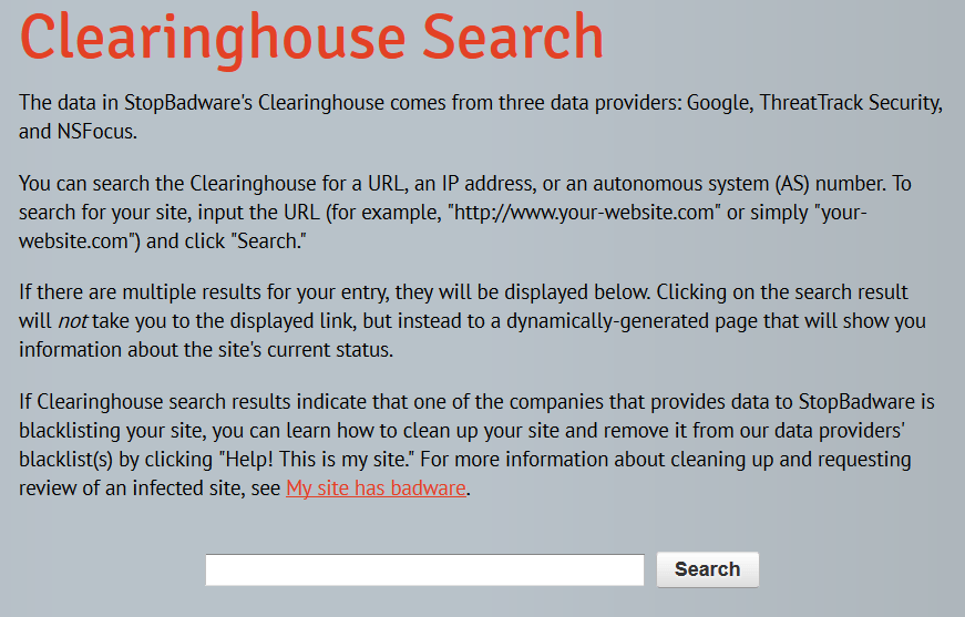 Checking if your site has been blacklisted is as simple with tools like StopBadware's Clearinghouse Search