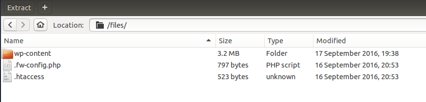 Our downloaded backup didn't contain the wp-admin and wp-include files