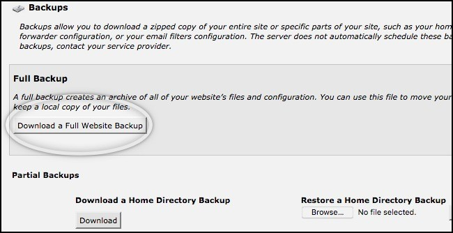 siteground download full website backup