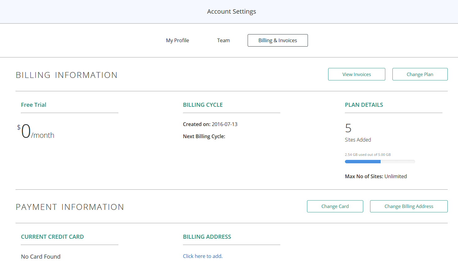 Account Settings_Billing and Invoices