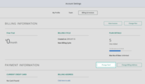Account Settings_Billing and Invoices_Change Card