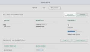 Account Settings_Billing and Invoices_View Invoices