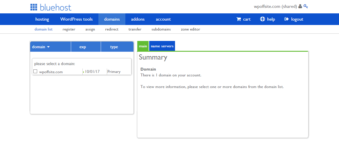 Your hosting account's 'Domains' section will allow you to create a domain or subdomain.