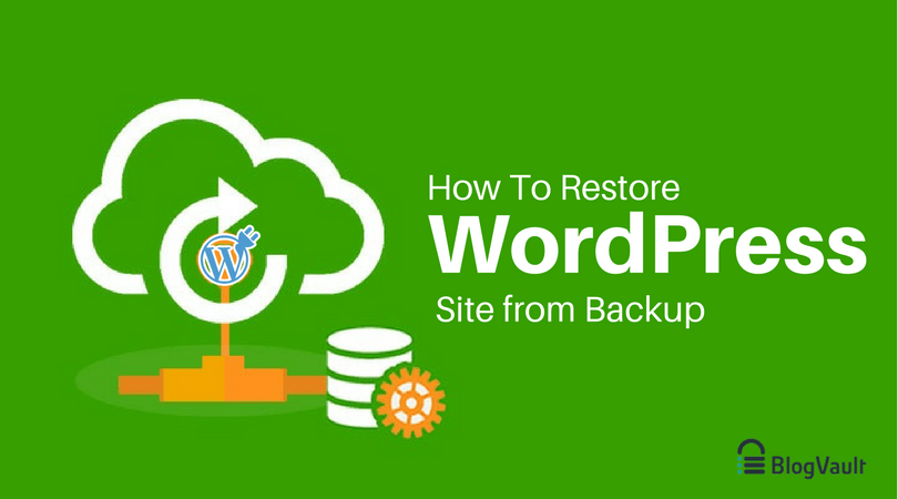 restore WordPress site from backup
