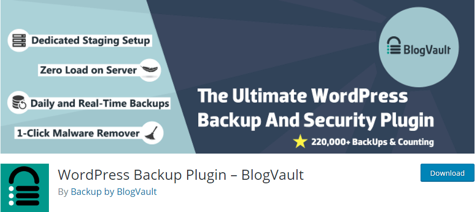 WordPress Backup Plugin BlogVault