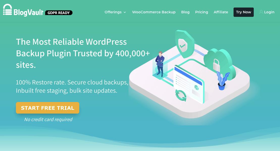 blogvault homepage
