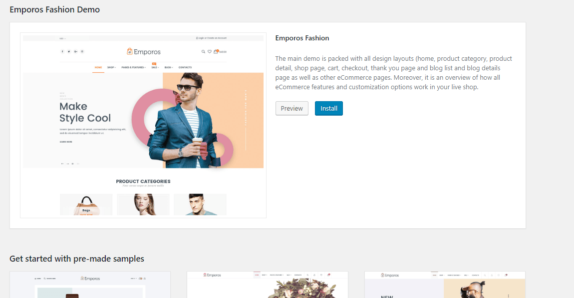 14 Emporos WooCommerce Theme Review