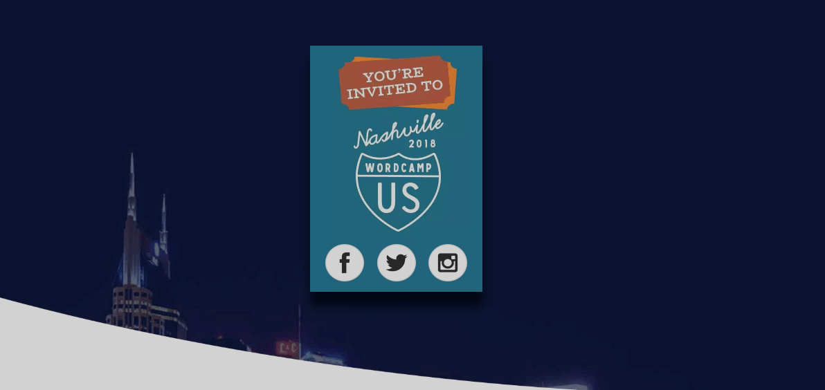 WordCamp US 2018 banner.