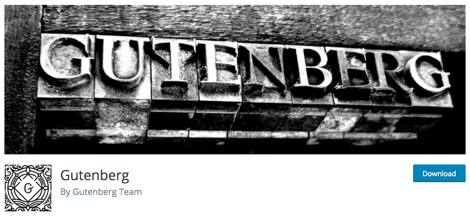 Gutenberg by Gutenberg Team repo header with banner.