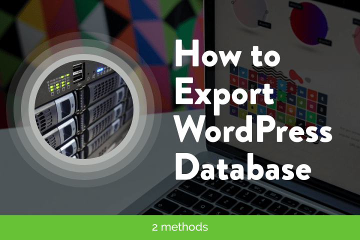 how to export wordpress database guide