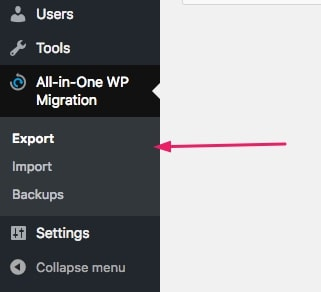 select export all-in-one wp