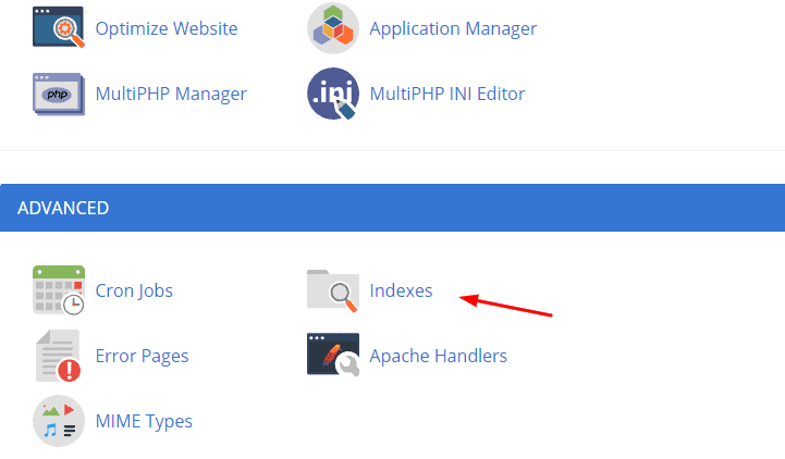 Bluehost indexesicon