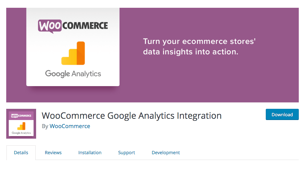 woocommerce plugin for Google Analytics