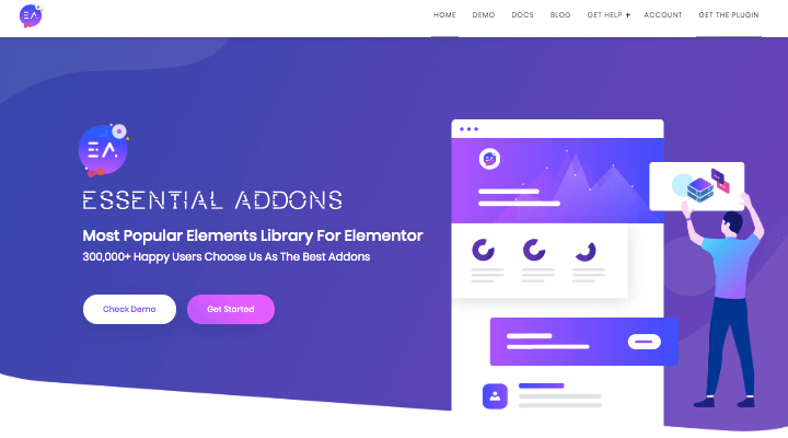 Essential Add ons Homepage
