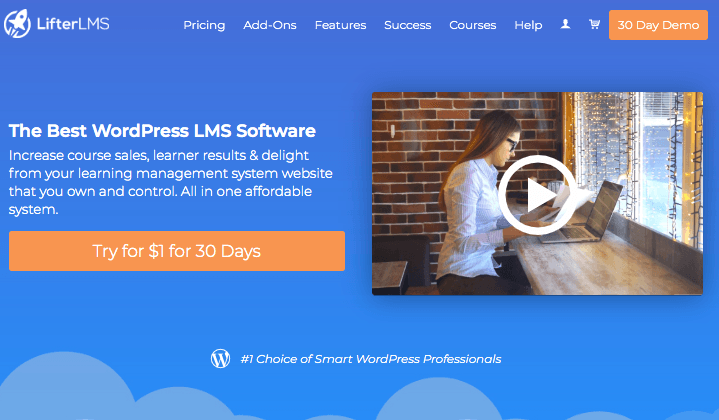 Lifter LMS homepage
