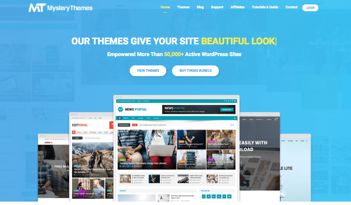 Mystery Themes Homepage