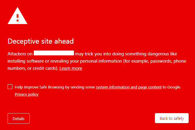 website malicious redirects