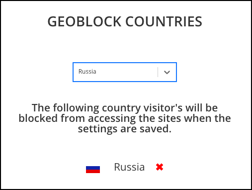 malcare geo-blocking to protect website from hack