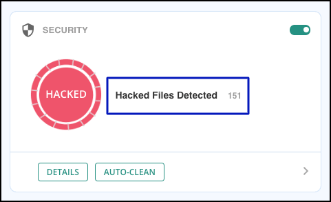 malcare hacked files detected
