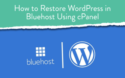 How to Restore WordPress in Bluehost Using cPanel?