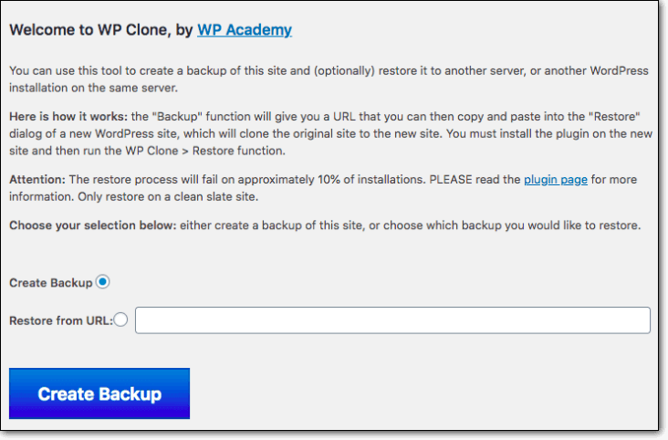 Clone by WP Academy