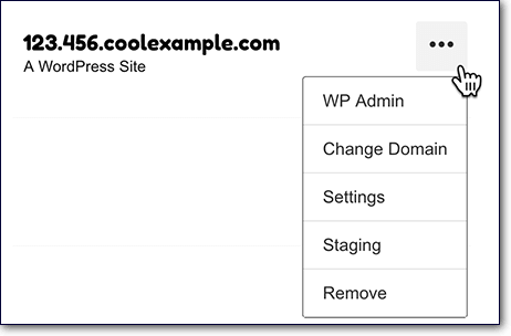 Create Godaddy staging by selecting staging for your WordPress Site