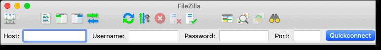 FTP credentials on FileZilla