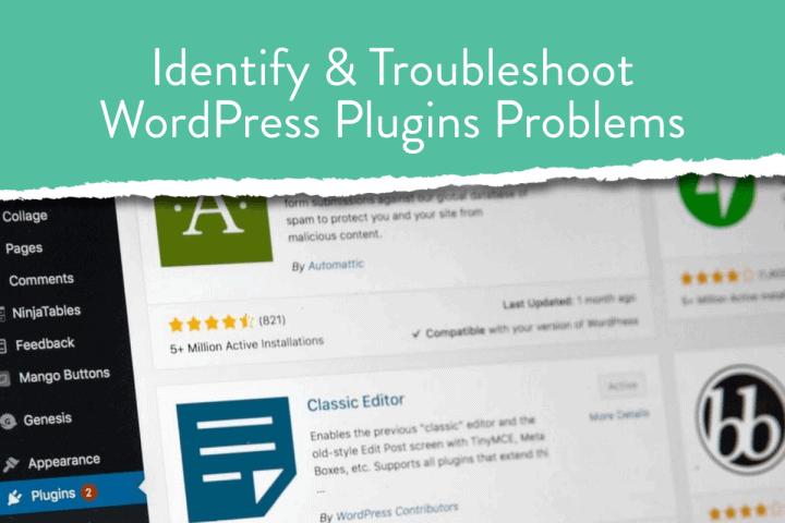 Identify & Troubleshoot WordPress Plugins Problems