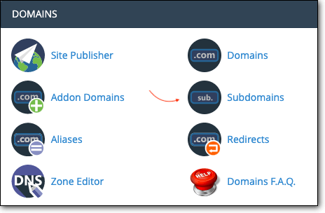 Sub domains in cPanel