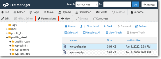 Permissions in cpanel