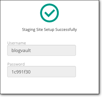 staging site username and password