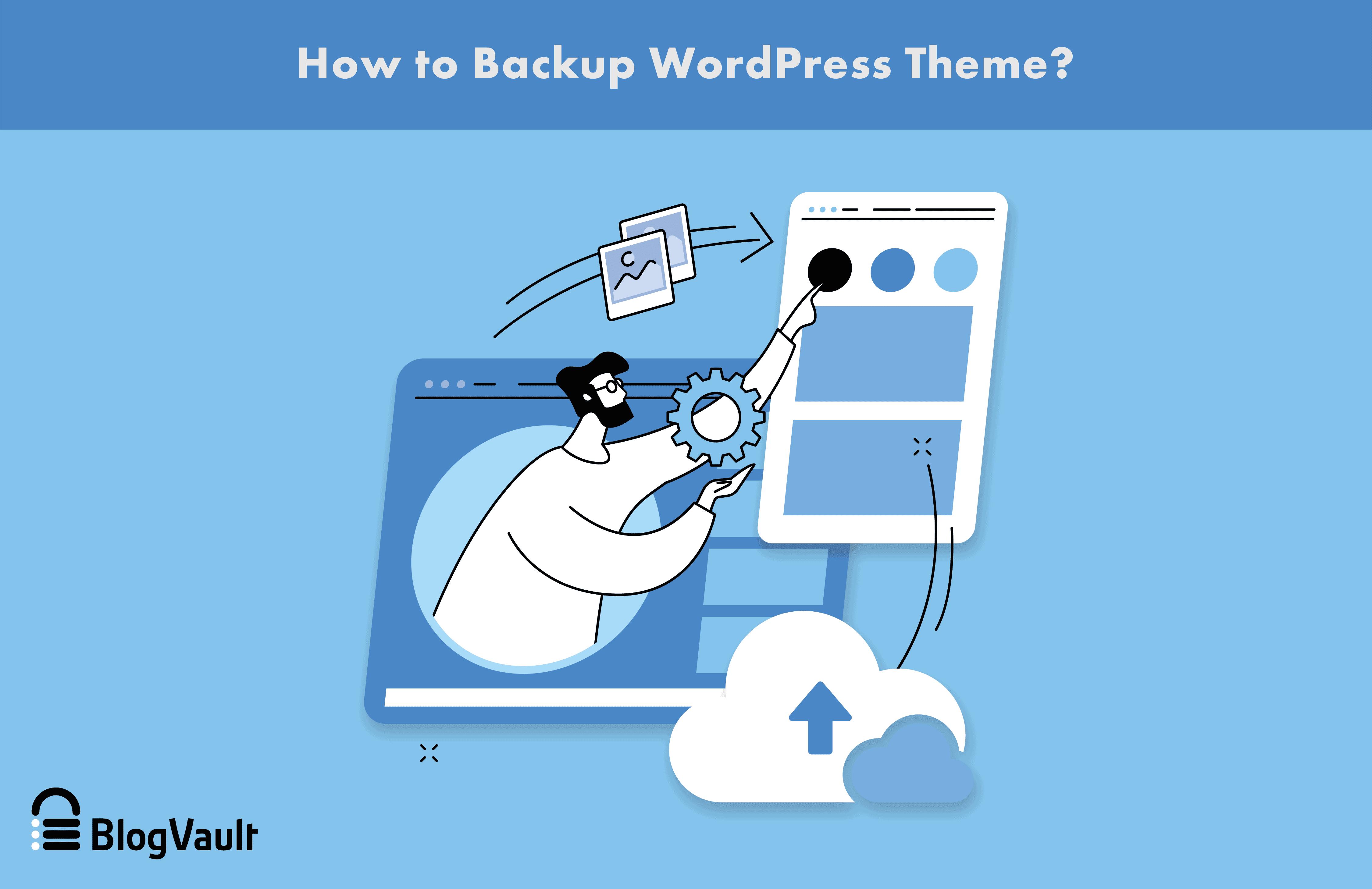 How to backup wordpress theme?