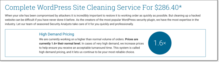 Wordfence malware cleaner plugin cost